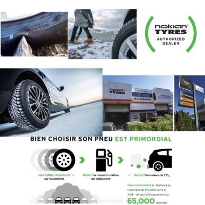 Jusqu'à -25% pour la pose de 4 pneus de la gamme NOKIAN pendant 1 mois !!!